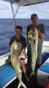 during the vanuatu fishing season we catch mahi- mahi
