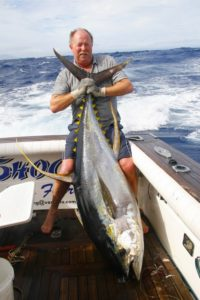 Big yellowfin during the vanuatu fishing season