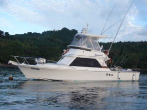 Shogun is another option for doing fishing charters in Vanuatu prices