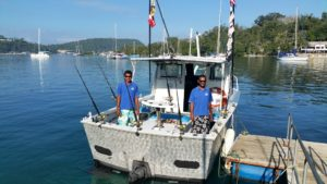 Shogun is fully equiped for fishing charters Vanuatu prices