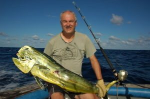 Bill caught this mahi-mahi during the vanuatu fishing season